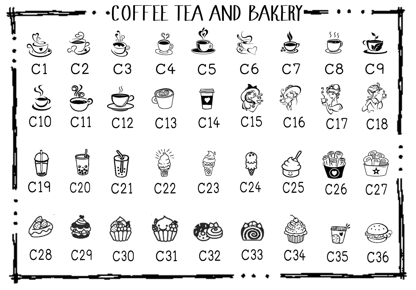 coffee tea and bakery
